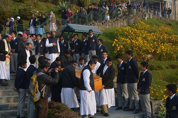 Funeral procession at North Point, Darjeeling