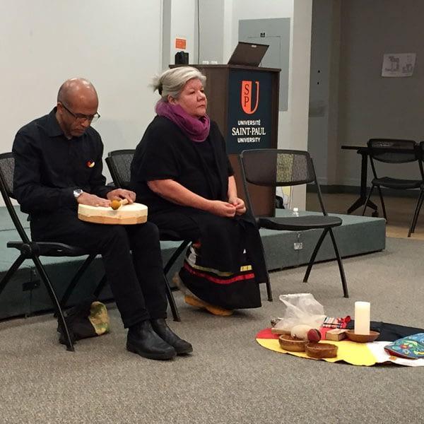 Fr Hasina and Donna Naughton