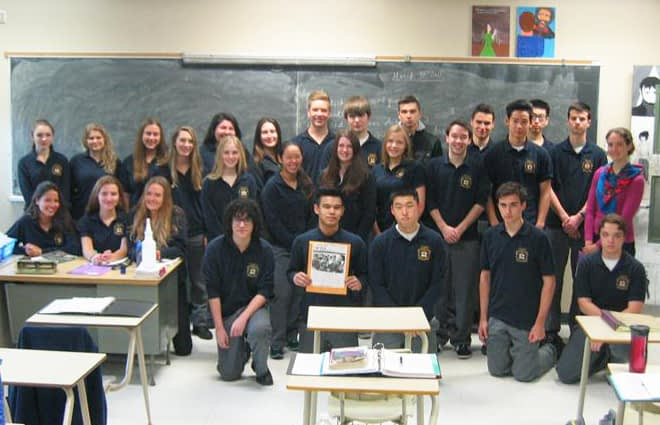 Daniella Altobelli's English class at Bishop Allen Academy